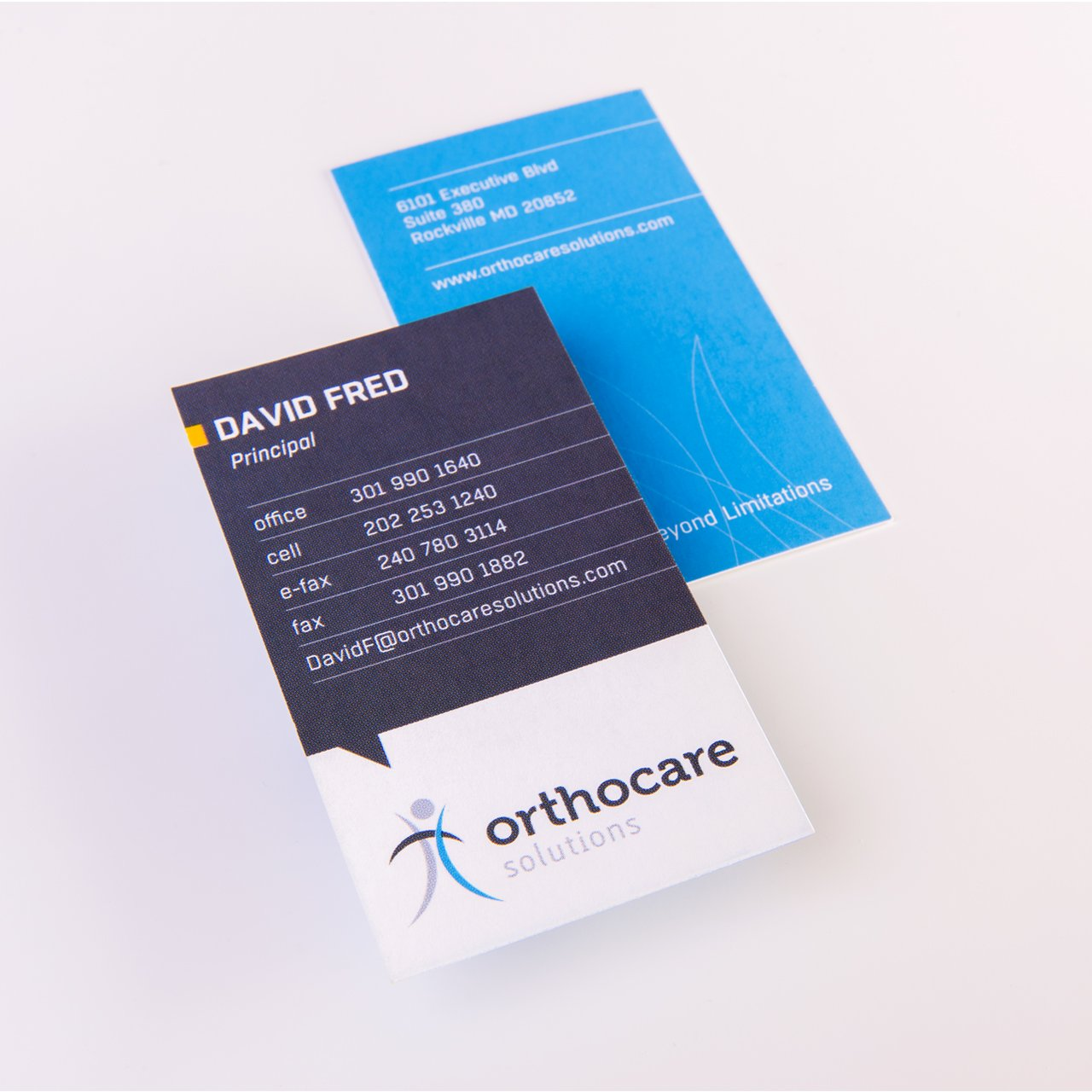 Orthocare Business Cards